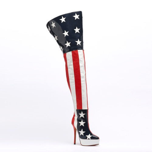 Old Glory Thigh boots